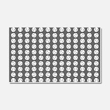Sports: Baseball Ball Pattern Car Magnet 20 x 12