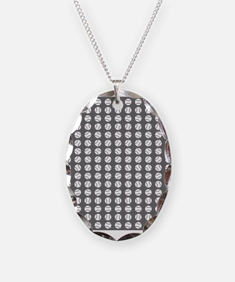 Sports: Baseball Ball Pattern Necklace