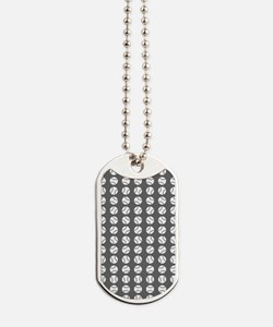 Sports: Baseball Ball Pattern Dog Tags