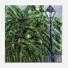 French Quarter Banana Trees Tile Coaster