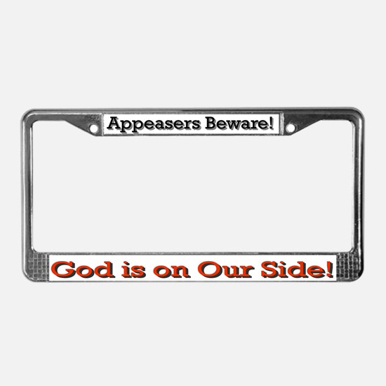Appeasers Beware License Plate Frame