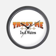 Trust Waitress Wall Clock