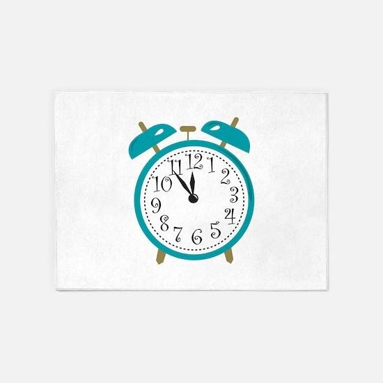 Alarm Clock 5'x7'Area Rug