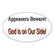 Appeasers Beware! Oval Decal
