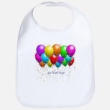 Get Well Balloons Bib
