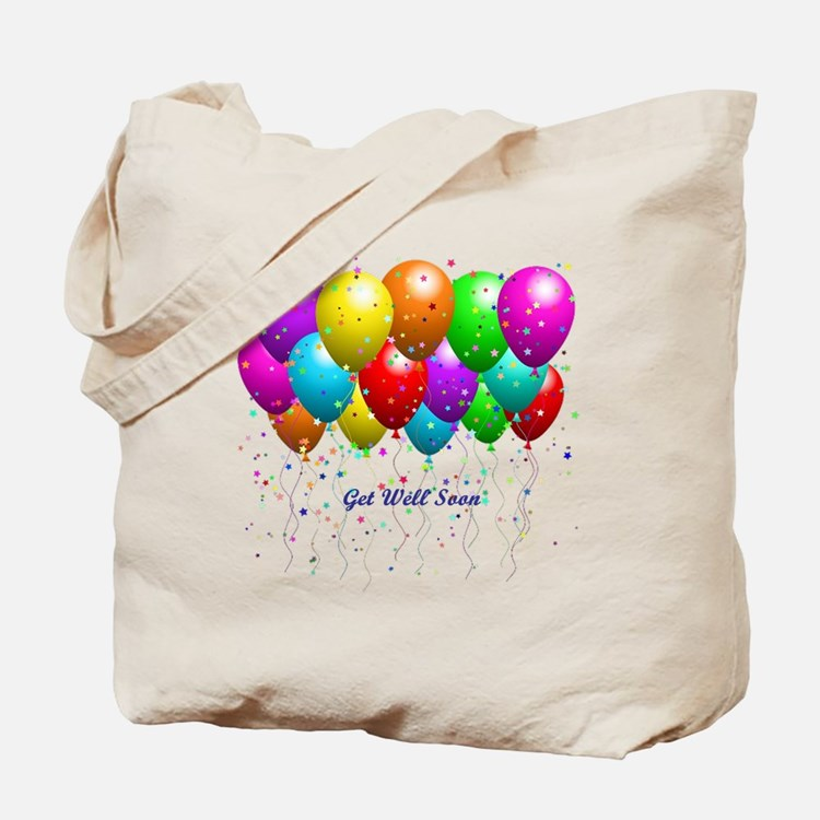Get Well Balloons Tote Bag