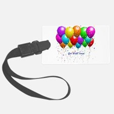 Get Well Balloons Luggage Tag