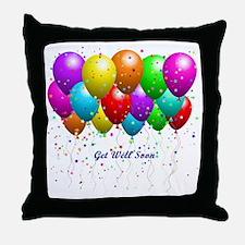 Get Well Balloons Throw Pillow