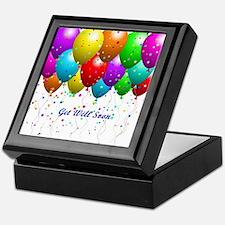 Get Well Balloons Keepsake Box