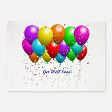 Get Well Balloons 5'x7'Area Rug