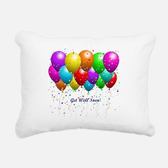 Get Well Balloons Rectangular Canvas Pillow