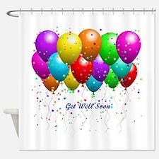 Get Well Balloons Shower Curtain