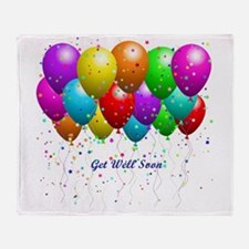 Get Well Balloons Throw Blanket