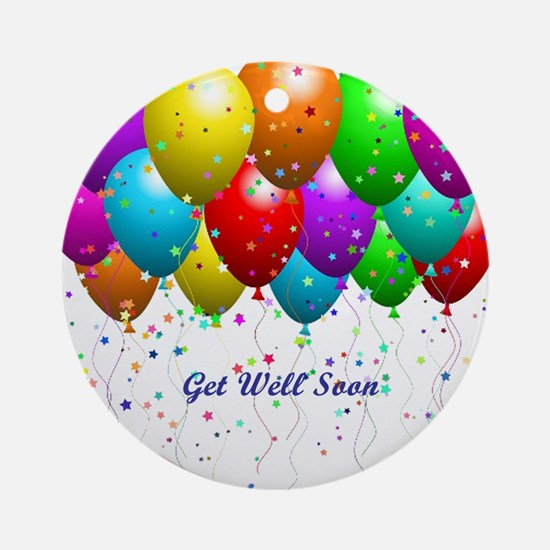 Get Well Balloons Ornament (Round)