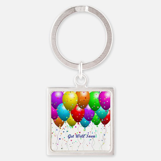 Get Well Balloons Keychains