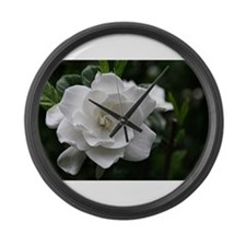 Gardenia Bloom Large Wall Clock