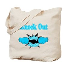 Knock Out Anxiety Disorder teal.png Tote Bag