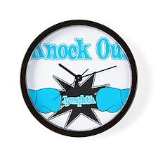 Knock Out Agoraphobia teal.png Wall Clock