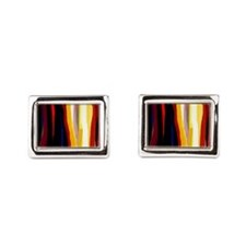 Adinkra Pattern Rectangular Cufflinks
