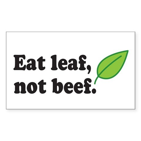 Eat Leaf Rectangle Sticker