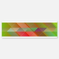 Triangles pattern Bumper Bumper Bumper Sticker