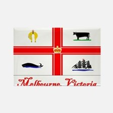 Melbourne, Vi Flag Rectangle Magnet