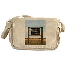 Colorful Colorado Welcome Highway Si Messenger Bag