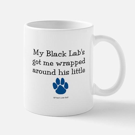 Wrapped Around His Paw (Black Lab) Mug