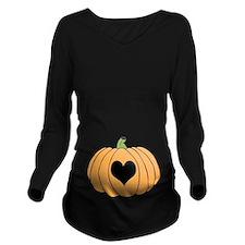 Pumpkin Love Long Sleeve Maternity T-Shirt