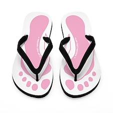 Pink Flop Feet Foot On Flip Flops