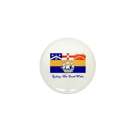 Sydney, NSW Flag Mini Button (10 pack)