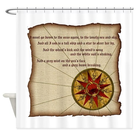 Harvest moons compass rose shower curtain by harvestmoondesigns