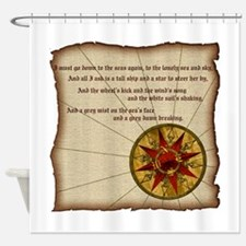 Harvest Moons Compass Rose Shower Curtain