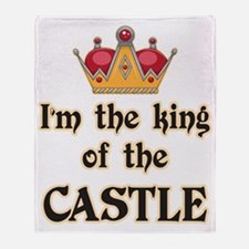 King of the Castle Throw Blanket