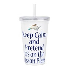 Lesson Plans Acrylic Double-wall Tumbler