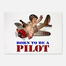 BORN TO BE A PILOT 5'x7'Area Rug