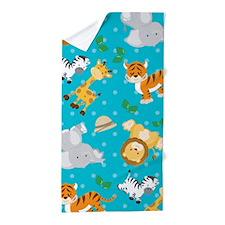 Cute Safari Animal Print Beach Towel