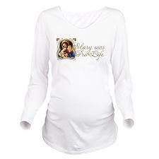 Unique Virgin mary Long Sleeve Maternity T-Shirt