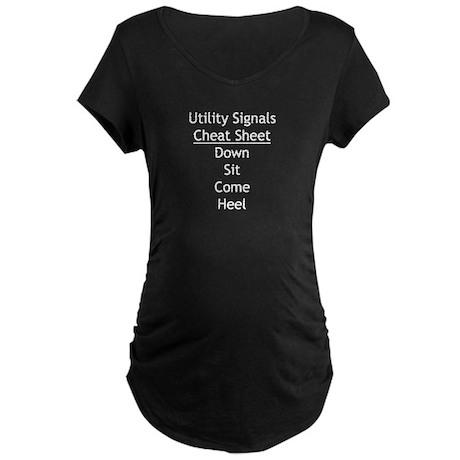 Utility Signals Cheat Sheet Maternity Dark T-Shirt