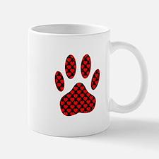 Dog Paw Print With Hearts Mugs