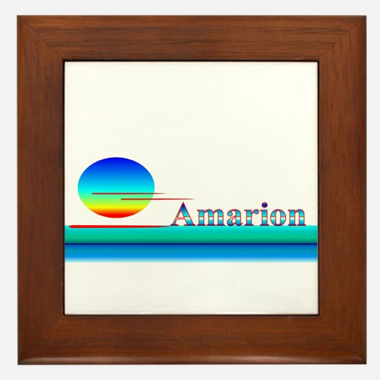 Amarion Framed Tile