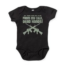 Cute Gun in the hand Baby Bodysuit