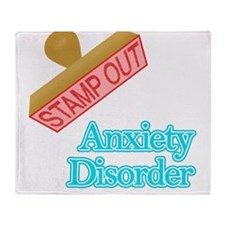 Anxiety Disorder Throw Blanket