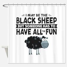 Black Sheep Shower Curtain