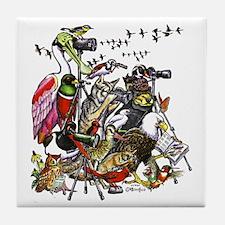 """Birders"" Tile Coaster"
