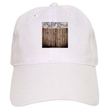 barnwood white lace country Baseball Cap