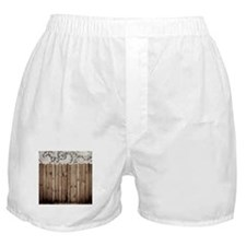 barnwood white lace country Boxer Shorts