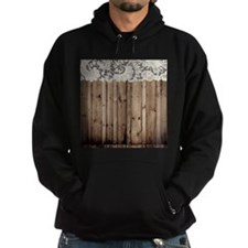 barnwood white lace country Hoody