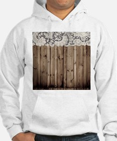 barnwood white lace country Jumper Hoody