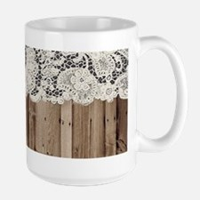 barnwood white lace country Mugs